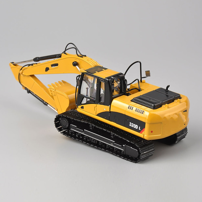 collection diecast model 1/50TH Diecast Hydraulic Excavator 320D L Yellow Car Model Toy Vehicles Engineering vehicle model enlarge
