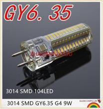 DIMMABLE GY6.35 LED Lamps 12V 110V 220V 9W 12W 15W Corn Light Bulb Droplight Chandelier 3014SMD 104/Led Bombillas Lamp
