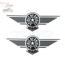 Motorcycle Gas Tank Stickers Sticker Voor Harley Sportster Dyna Touring Softail Fat Boy flstf 200mm x 71mm