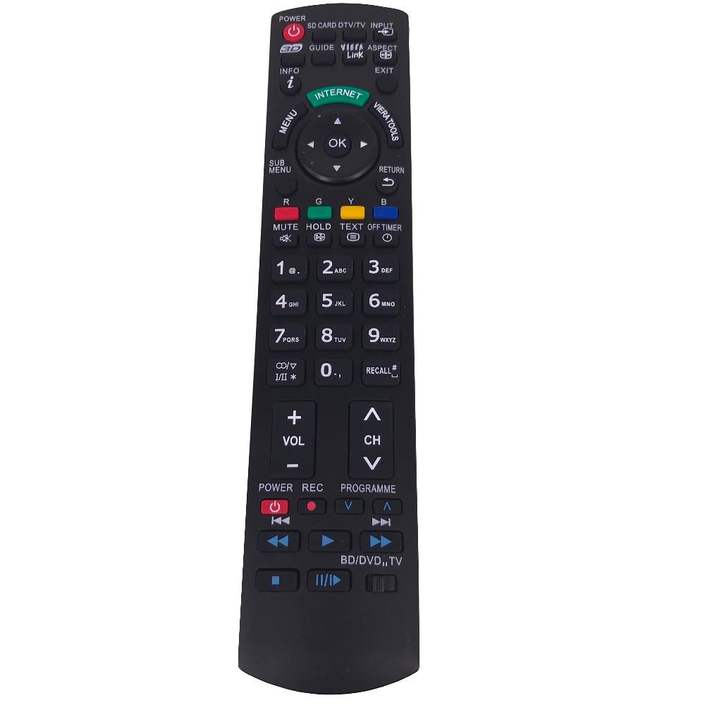 New Remote Control N2QAYB000659 For Panasonic LCD LED 3D TV BD DVD TX-P42VT30 TX-P50U10E TX-L32S10B TV