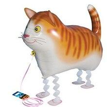 Ballon gonflable à hélium mignon chat en Pet   1 pièce, pour fête prénatale anniversaire enfants, décorations et cadeau pour animaux marchant