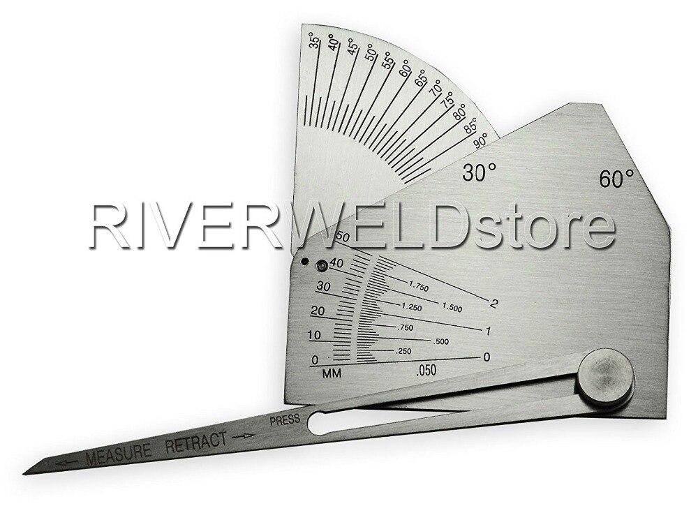 Prueba de medición de inspección de soldadura de calibre de soldador de filete de SKEW-T