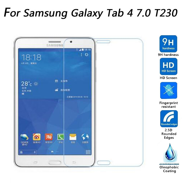 2.5d 0.3mm 9 h vidro temperado à prova de explosão protetor de tela para samsung galaxy tab 4 7.0 t230 t231 t235 tablet película protetora