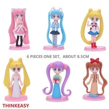 THINKEASY My Cute little Cartoon Miku Sailor Moon Utopia Action patrol Figure Pvc Mini Models Doll poni Anime