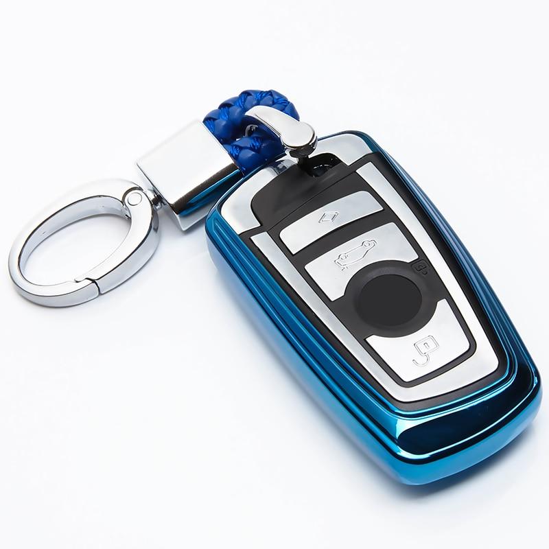 TPU funda de llave de coche para BMW F30 F10 F11 F07 5 GT F20 320i E90 520 de 525 1, 2, 3, 4, 7, serie X3 X4 cubierta soporte para llavero Accesorios