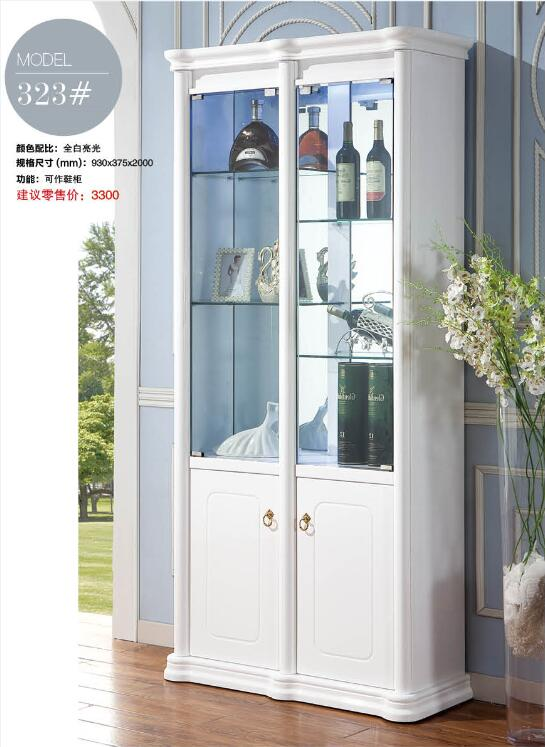 323 # أثاث غرفة المعيشة بيضاء واحدة عرض منتجات خزانة مشروبات خزانة للغرفة المعيشة