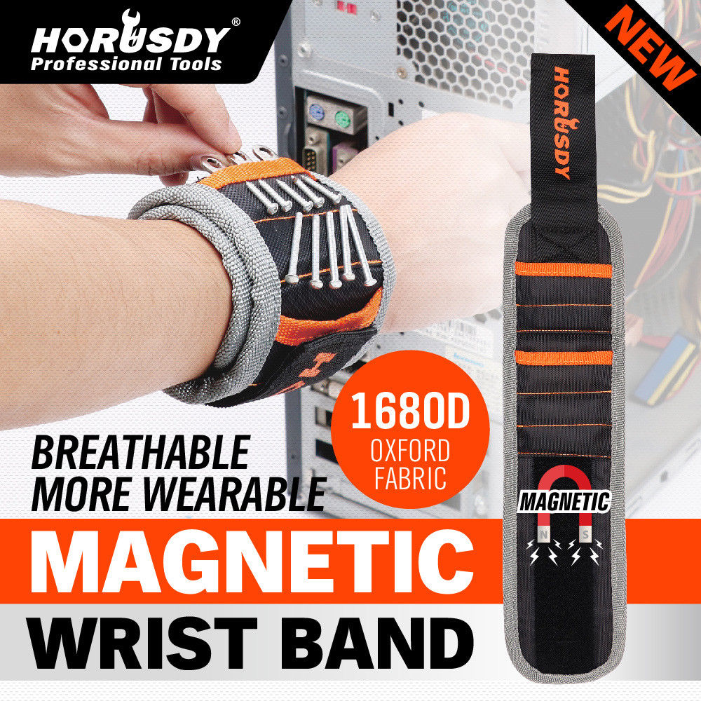 AliExpress - Magnetic Wristband Portable Tool Bag Polyester Pocket Wrist Support Tool Belt Screws Nails Drill Bits Holder Repair Tool