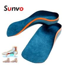 Sunvo semelles orthopédiques pour enfants pieds plats soutien de la voûte plantaire enfants semelle intérieure enfant chaussures de Correction orthopédiques coussinets pied soins de santé