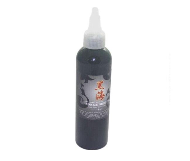 Tatuaje de maquillaje permanente tinta negra 4oz suministros de pigmento de tatuaje manual cosmético 120 ml/botella