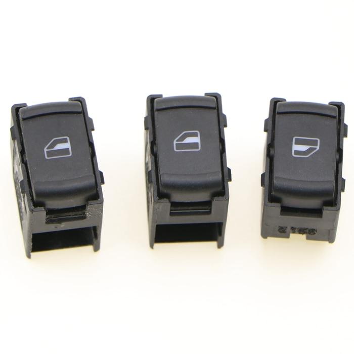 3 uds nuevo pasajero eléctrico ventana de vidrio interruptor para 1999-2005 VW Passat B5 Golf Jetta MK4 Bora 3B0 959 B 855 3B0959855B