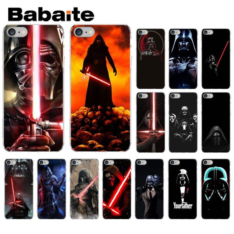 Babaite Star Wars la fuerza despierta Darth Vader DIY alta-Protector final caso para iPhone X XS X MAX 6 6s 7 7plus 8 8Plus 5 5S SE XR