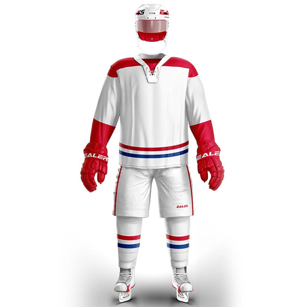 Cool Hockey frete grátis barato Respirável em branco hóquei no gelo jersey Formação s em estoque personalizado E064