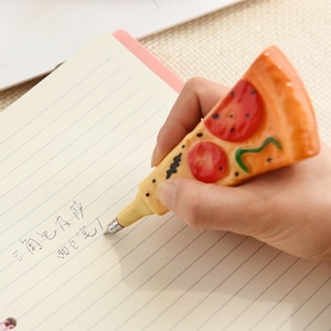4 pcs/lot Creative bread pen black 0.5mm ball point pen Set student learning office record notes stationery Gifts School Supply