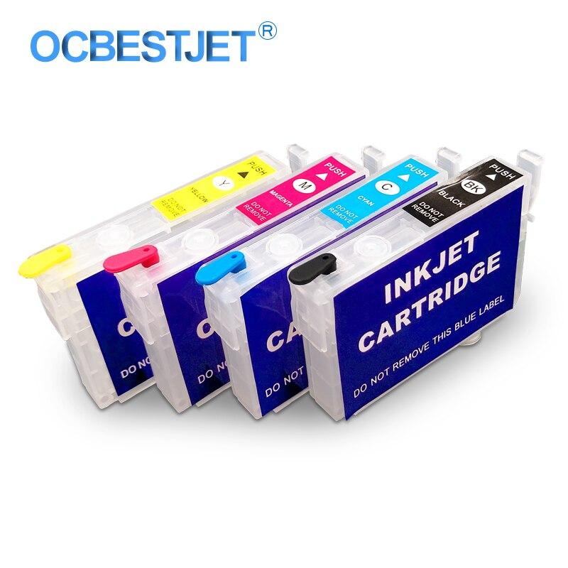 4 вида цветов/набор T0731HN-T0734HN многоразового использования картридж для Epson T40W TX219 TX200 TX20 TX400 TX410 TX510FN TX550W TX600F TX610