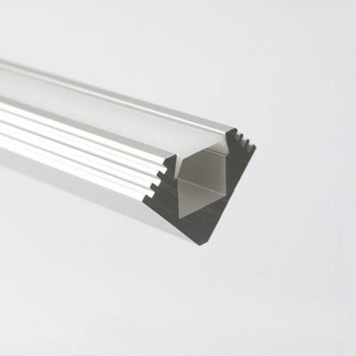 45-MDF carcasa de perfil de aluminio de esquina con lentes difusoras y clips de montaje para tira de luces LED MOQ 10x1m envío gratis