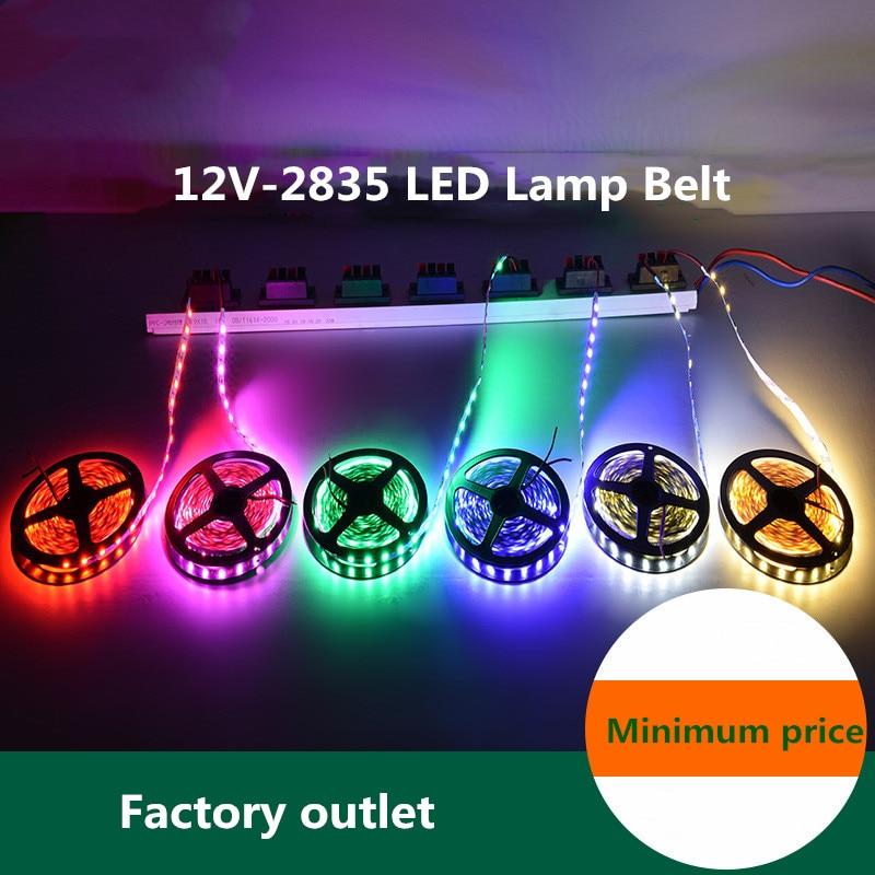 DC 12 V voltios de cinta de luz Led 2835 RGB 0,5-10 M 12 V DC 60LED/M de tira Led RGB cinta lámpara de diodo de Flexible TV retroiluminación