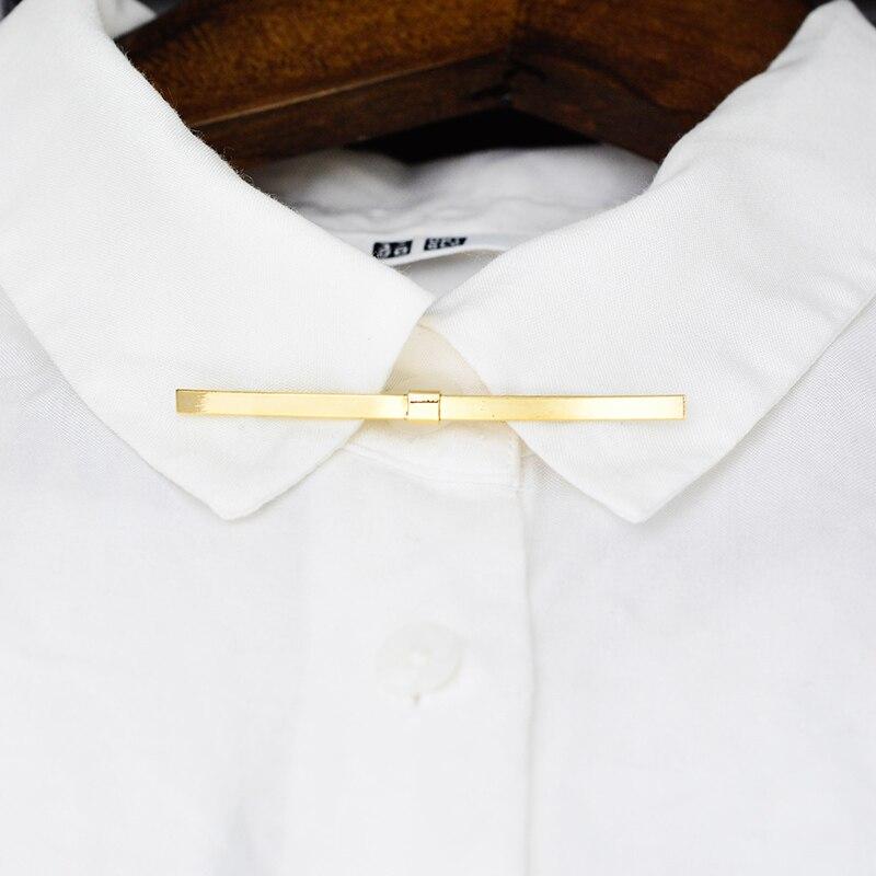 OBN Cobre Barra de Pinos Ossos Reforços de Metal Camisa de Colarinho Colarinho Pin Acessório Vestido de Reunião de Negócios dos homens Clássicos