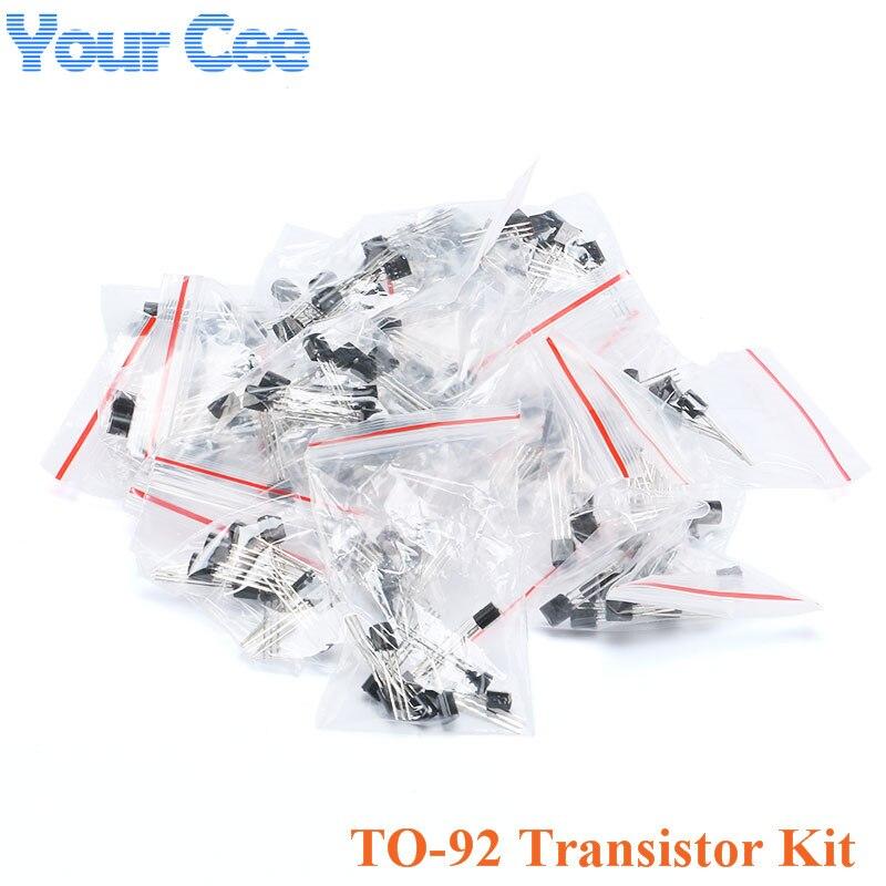 Набор транзисторов TO-92 для S9011 S9012 S9013 S9014 S9018 A1015 C1815 A42 S8550 2N3906 2N3904 16 видов * 10 шт = 160 шт/1 партия
