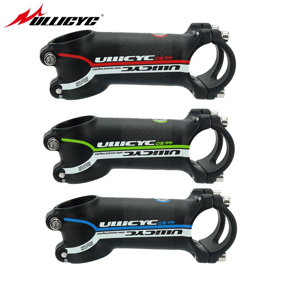Ullicyc rouge vert bleu tige alliage + 3 k carbone mat vélo de route VTT vélo tige vélos tige angle 6 angle 17 LGA12