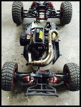 Tuyau déchappement en acier fait main pour 1/5 Buggy désert Losi XL DBXL RCMK XCR