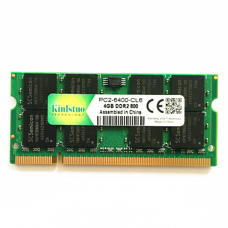 Kinlstuo-memoria ram para portátil, ddr2, 4gb, 800Mhz, pc2-6400, so-dimm, 4gb, 667 pc2-5300,...