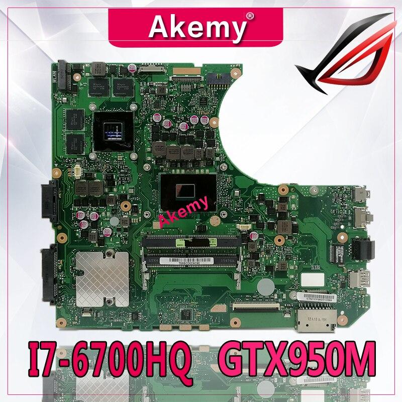Akemy N552VX материнская плата для ноутбука For Asus VivoBook Pro N552V N552 тестовая оригинальная I7