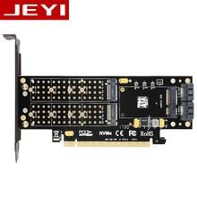 JEYI SK16 M.2 NVMe SSD NGFF PER PCI-E3.0 X4 adattatore M Chiave Tasto B mSATA add on card Suppor PCI express 3.0 3 in 1 dual 12 v + 3.3 v