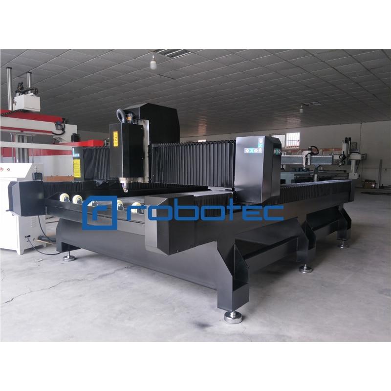 Control DSP con mesa t-slot tanque de agua mármol/Granito piedra cnc máquina de grabado Con Enrutador de madera de aluminio fresadora cnc