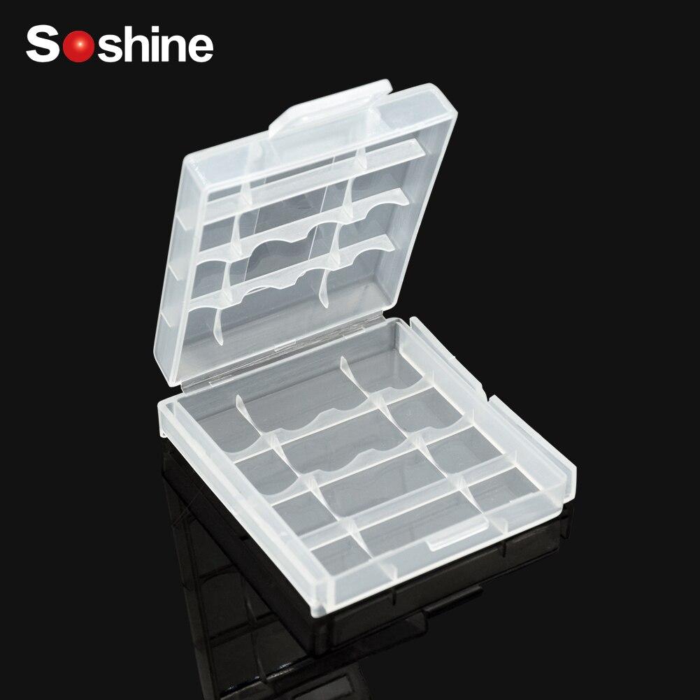 Soshine держатель коробка для хранения Чехол 6 различных elitooop пластиковый чехол для AA AAA батарея коробка контейнер Сумка Чехол Органайзер Короб...