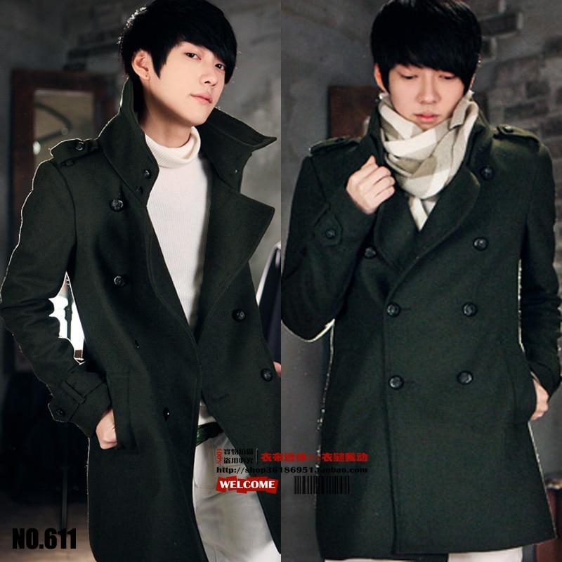 Hot ! Free Shipping 2020 Spring Woolen Outerwear Men Fashion Slim Medium-long Wool Coat Clothing / S-xxxl