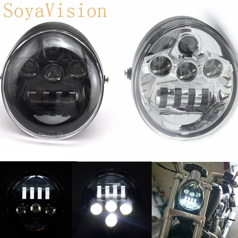 Para V Rod VROD VRSC VRSCA VRSCDX LED faro DRL Motor H/L de la motocicleta de aluminio del faro