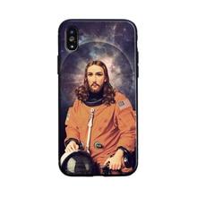 Funda de silicona blanda para teléfono con astronauta gracioso Jesús, carcasa para iPhone X de Apple XR XS MAX 8 7 6 6s Plus Se 5S 5 11 pro max