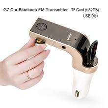 Siparnuo-transmetteur dautoradio   Bluetooth G7, Trasmettitore, Kit de voiture, Bluetooth par voiture FM, avec fente USB ou TF