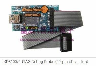 TMDSEMU100V2U-20T XDS100v2 JTAG emulator 20 pin compact TI connector v9 v8 emulator adapter board supports jtag cortex stm32 super multi interface