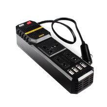 Convertisseur de cigarettes de voiture 200 W   Convertisseur de tension, chargeur Wave, 4 USB 3,1a, 12 V à 220 volts cc