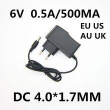 1 шт. 6 в 0.5A 500мА 4 Вт AC DC адаптер питания зарядное устройство для OMRON I-C10 M4-I M2 M3 M5-I M7 M10 M6 M6W Монитор артериального давления