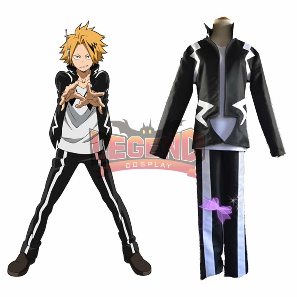 Anime My Hero Academia boku no hero academia  Denki Kaminari cosplay costume custom made