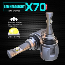 1 Set H8 H9 H11 120W 15600LM XHP-70 lente Chips X70 faro LED de coche de la lámpara frontal bombillas H4 H7 9005/6 HB3/4 9012 D1S/D2S/D3S/D4S 6K