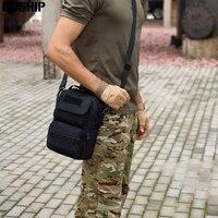 Tactical Hunting Military Messenger Bag Travel Hike Handbags Nylon 1000D Waterproof Man Crossbody Shoulder Bag Outdoor Handbags