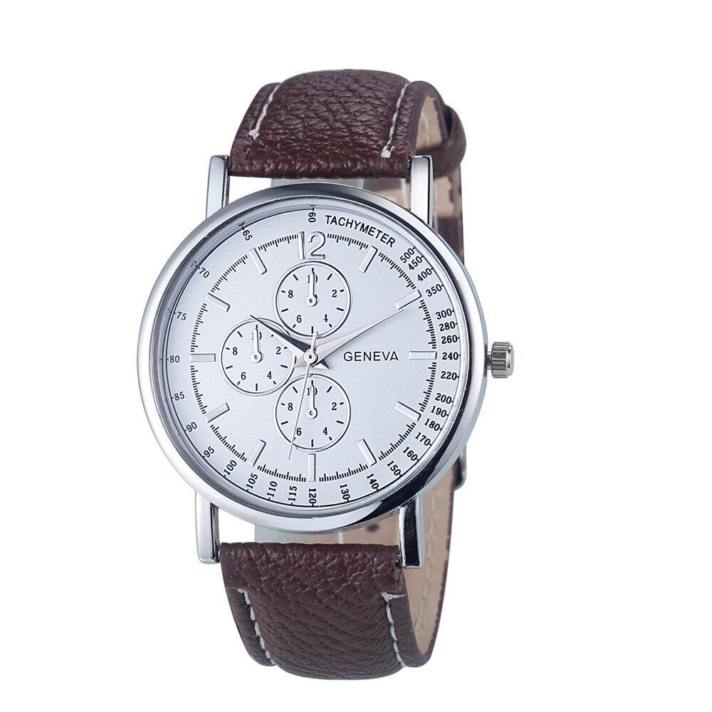 Men watch Geneva Women Fashion Diamond Analog Quartz Leather Wrist Watch Watches Reloj de hombre U50