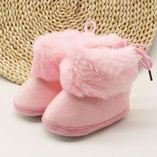 Bottes dhiver douces pour nouveau-nés filles   Bottes de princesse pour les premiers marcheurs, chaussures à semelles souples pour bébés filles