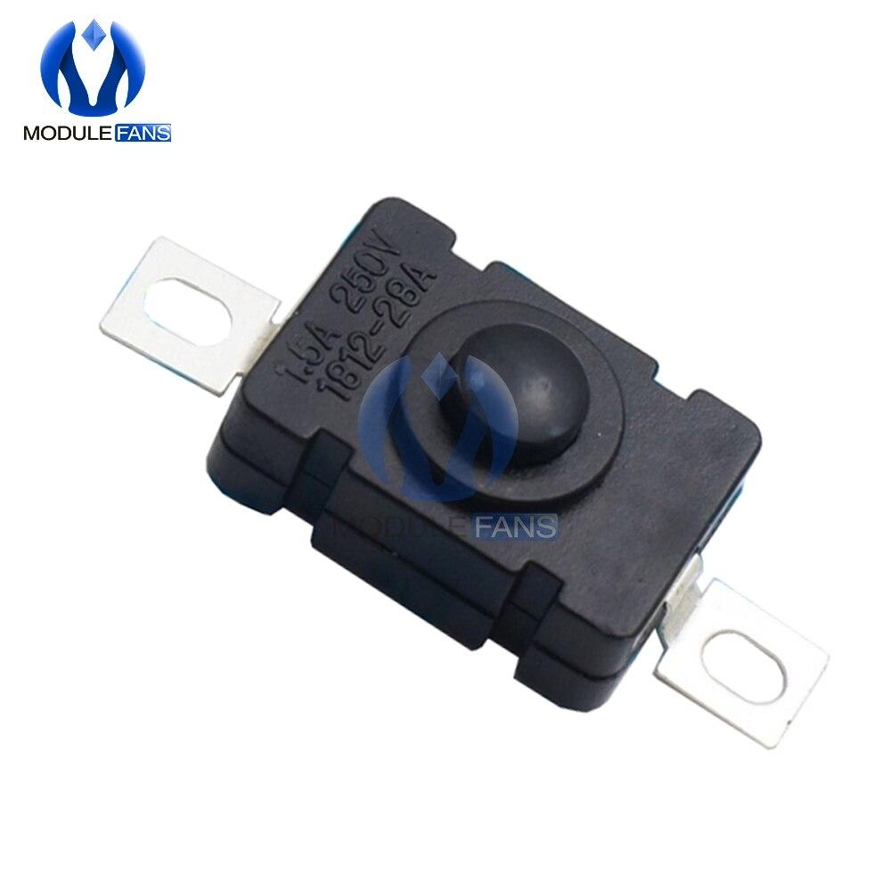 10 Uds KAN-28 linterna interruptores 1.5A AC 250V auto bloqueo Tipo SMD 18x12mm interruptor de botón de empuje 1812-28A 18x12 parche de presión de tipo