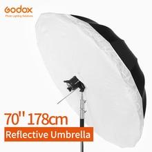 Godox Studio Photogrphy Umbrella  70 inch 178cm  Black Silver Reflective Umbrella + Large Diffuser Cover For Studio Shooting