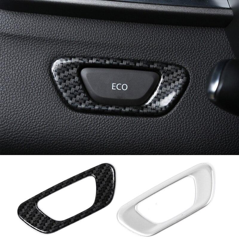 1 Uds., nuevo interruptor ecológico de fibra de carbono, pegatinas decorativas, funda apta para el diseño del coche Renault Kadjar