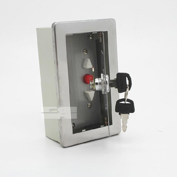 Surface mounted fire garage elevator shutter roller gate door sliding door access exit station button switch box