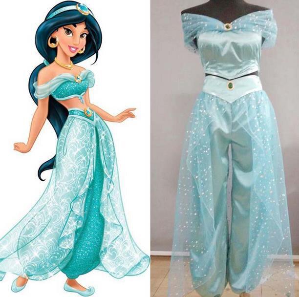 Adultos mujeres, chicas, niñas Anime princesa Jazmín de Aladín Cosplay disfraz