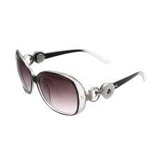 5 Color Xinnver Snap Button Sunglasses Retro Oval Glasses Eyewear Sunglasses Fit 18mm Snap Button for Women Jewelry ZN009