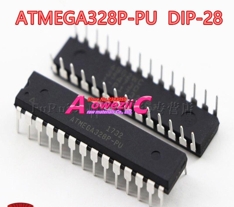 Aoweziic 2018 + 100 nuevo original ATMEGA328P-PU ATMEGA328P DIP-28 ATMEGA328P-MU ATMEGA328P QFN-32 MCU controlador