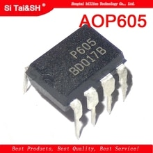 Circuit intégré de puce de gestion de puissance daffichage à cristaux liquides de 10 pièces P605 AOP605 DIP-8