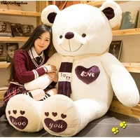stuffed fillings toy huge 180cm love you teddy bear plush toy scarf love bear soft doll hugging pillow toy birthday gift s1011